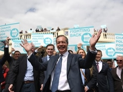 Farage rallies support in 'Britain's most patriotic town'