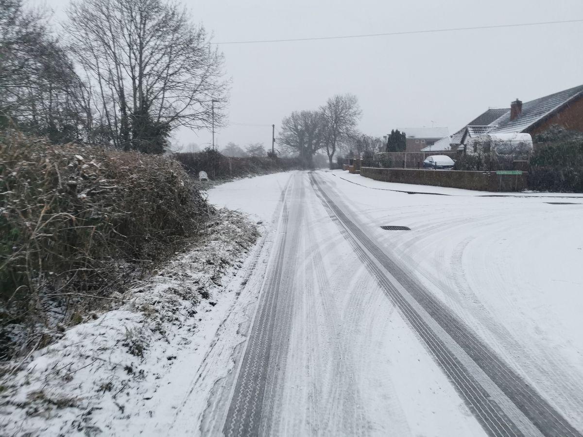 Snow in Wheaton Aston. Pic: Kirsten Rawlins