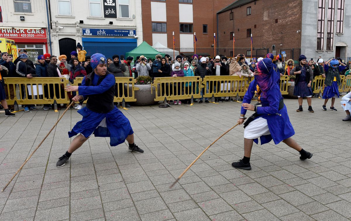 A demonstration of Gatka by two young members of the community
