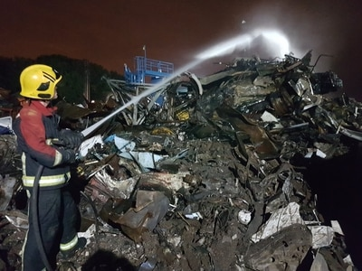 Investigation into scrapyard fire continues