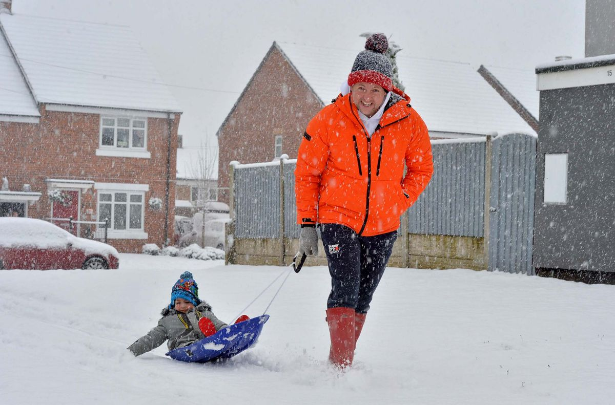 Sledging time in Hednesford