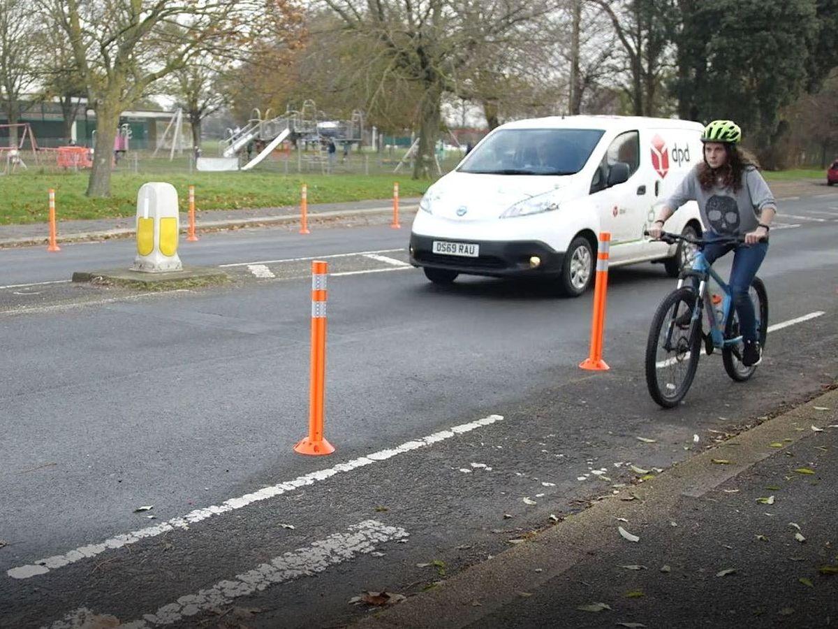 A pop-up cycle lane