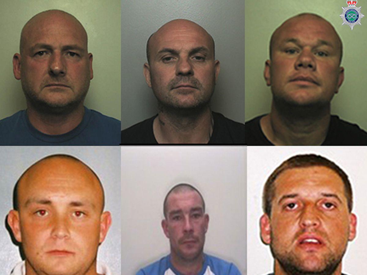 Clockwise from top left, John Appleton, Michael O' Mahoney, Shane Andrews, Adam Farmer, Gary Peapell and Gareth Pincombe