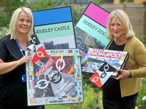 Amanda Bowen, head of fundraising at Mary Stevens Hospice, and Stourbridge MP Suzanne Webb launch the special edition Black Country Monopoly game
