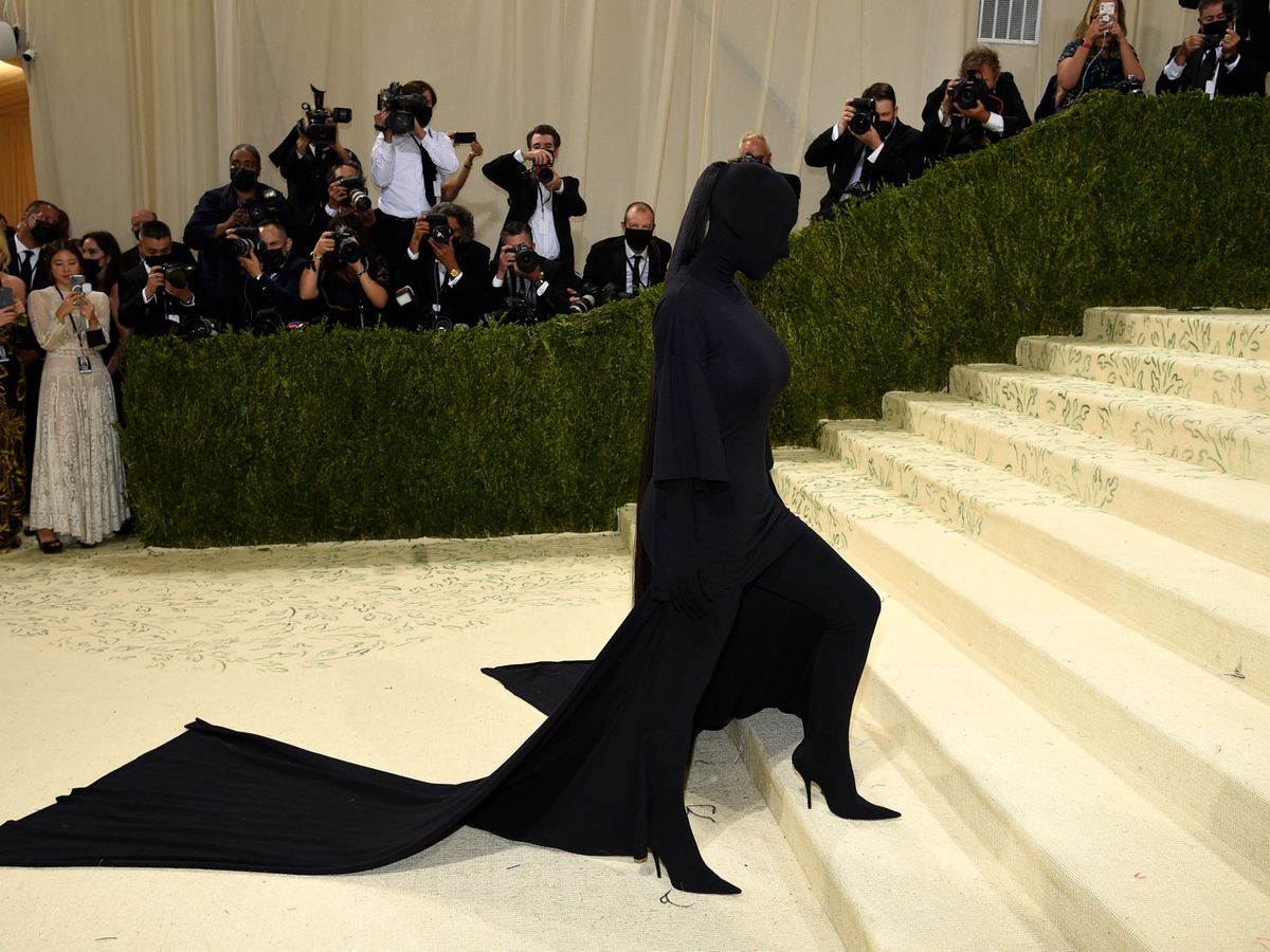 Kim Kardashian West raised eyebrows at the Met Gala by wearing a full face covering