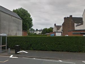 The vacant land on Wellington Road, Bilston, where permission has been given to build eight new flats. Photo: Google Street View