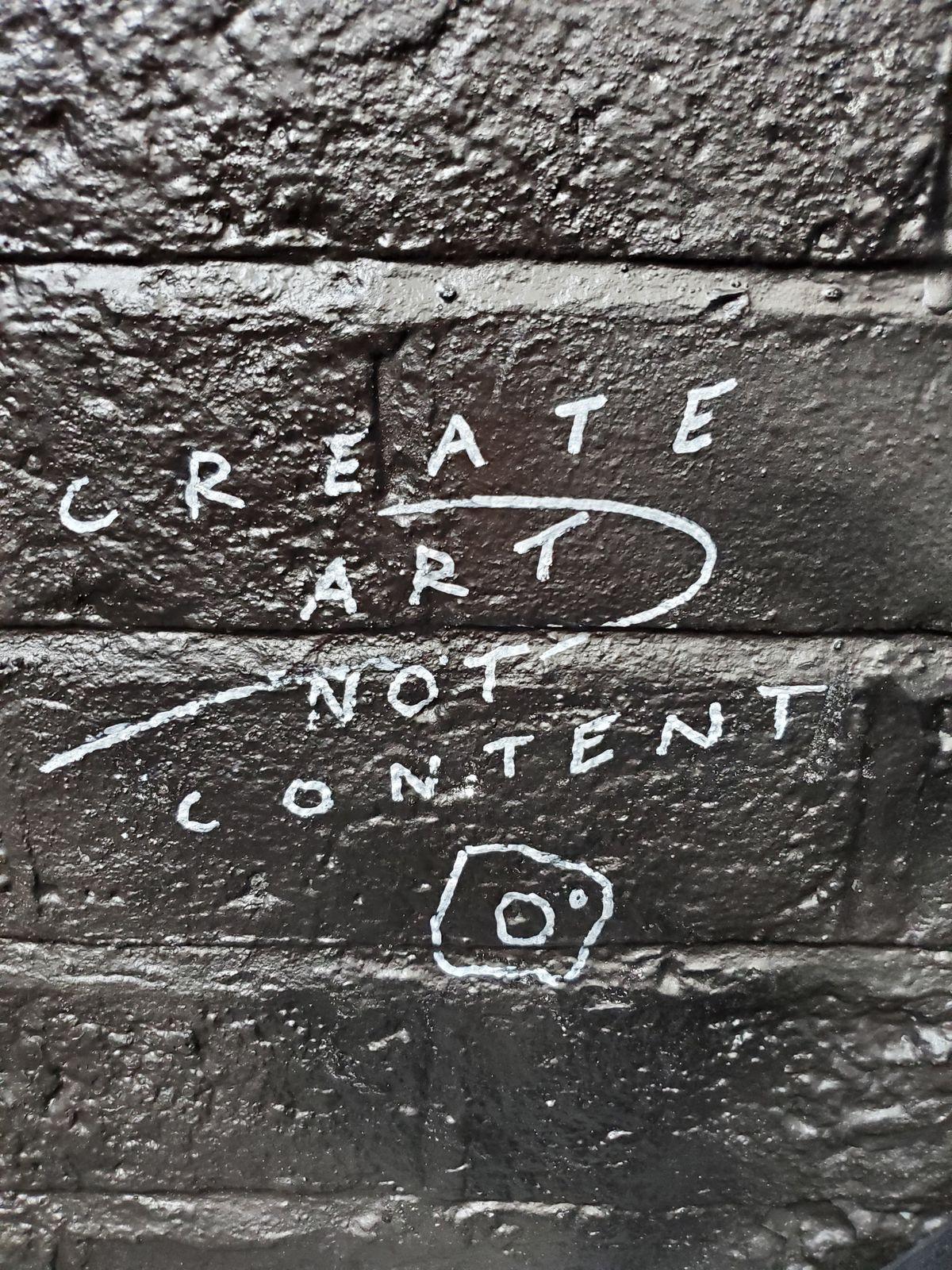 Graffiti on the walls