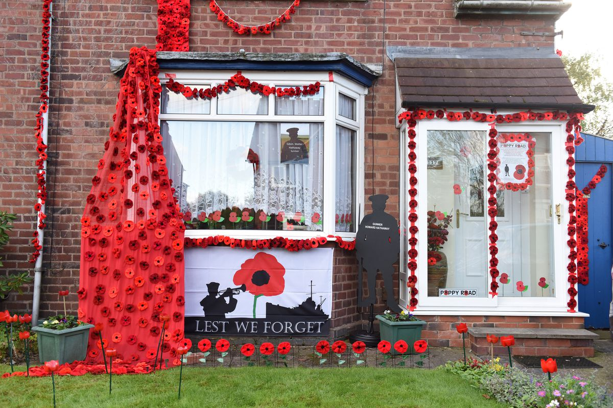Another of the homes to be decorated