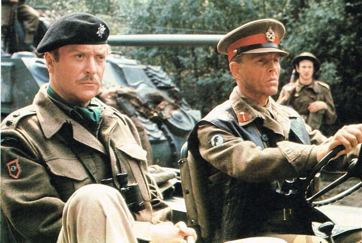Michael Caine and Edward Fox in the film A Bridge Too Far