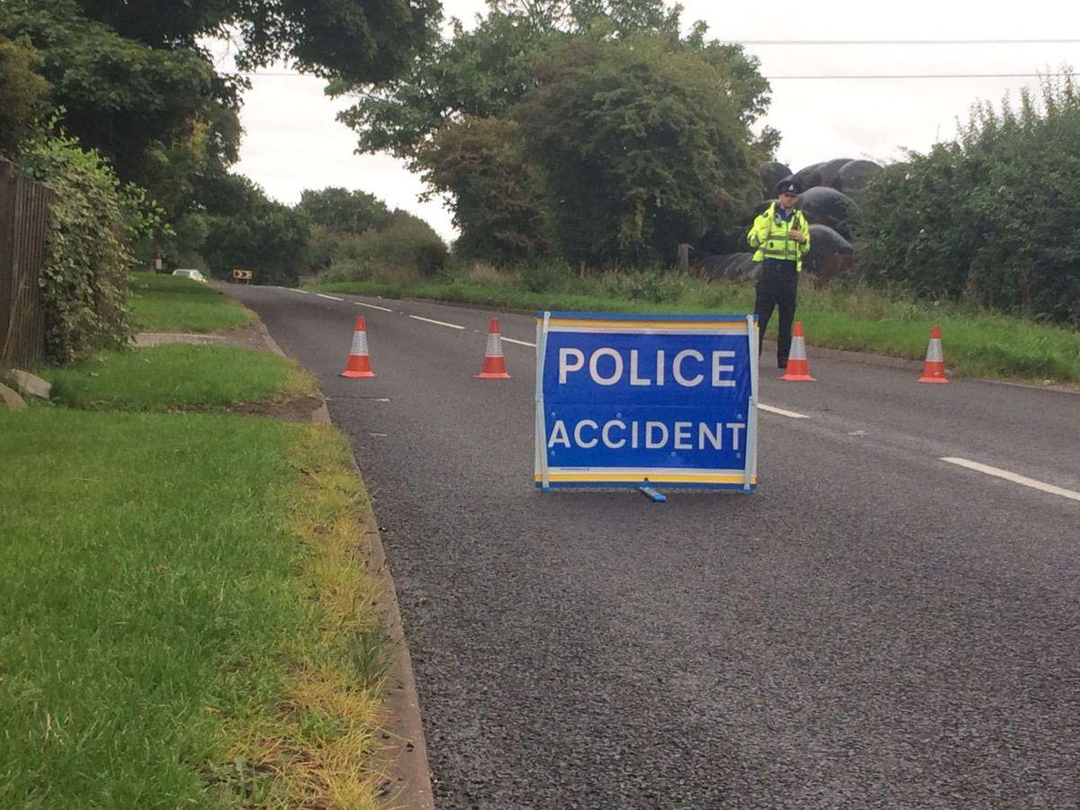 Police at Blackhalve Lane, Essington.