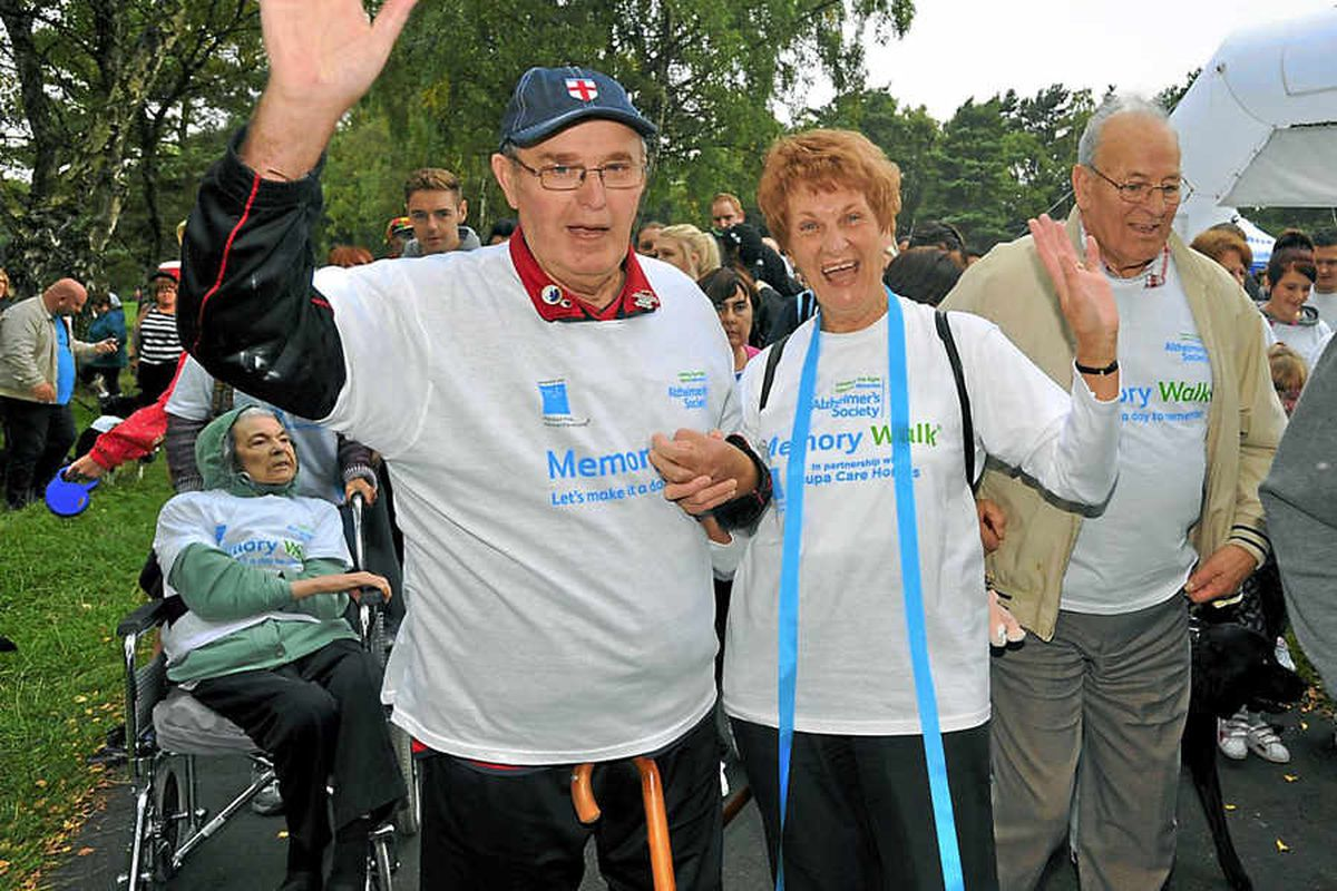 Hundreds step out on Cannock Chase charity walk