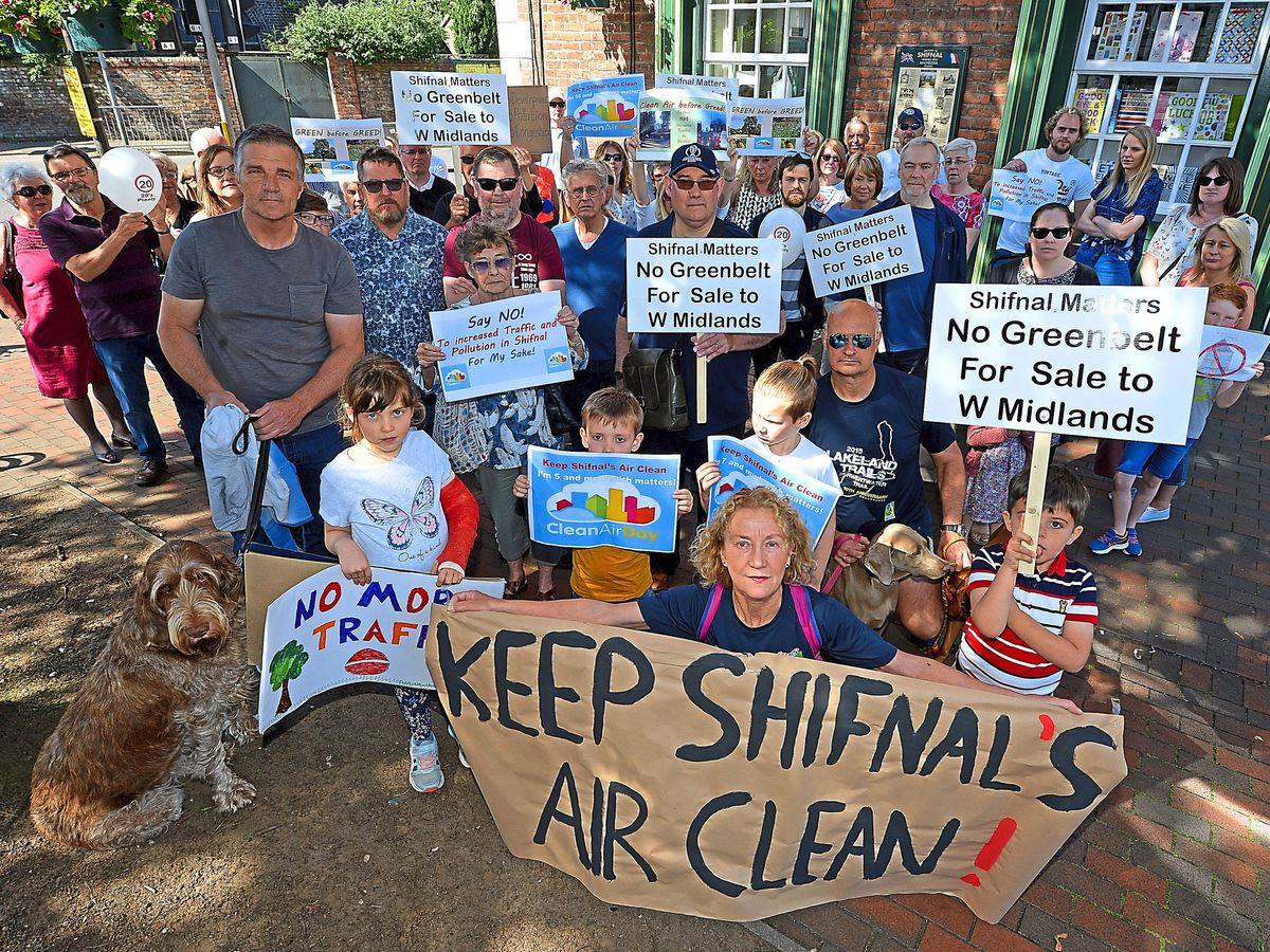 Campaigners from the Shifnal Matters group