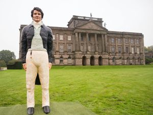 A life-sized cake of Mr Darcy, as played by Colin Firth in the TV series of Pride And Prejudice