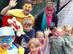 VIP mini superheroes enjoy day out on the SVR
