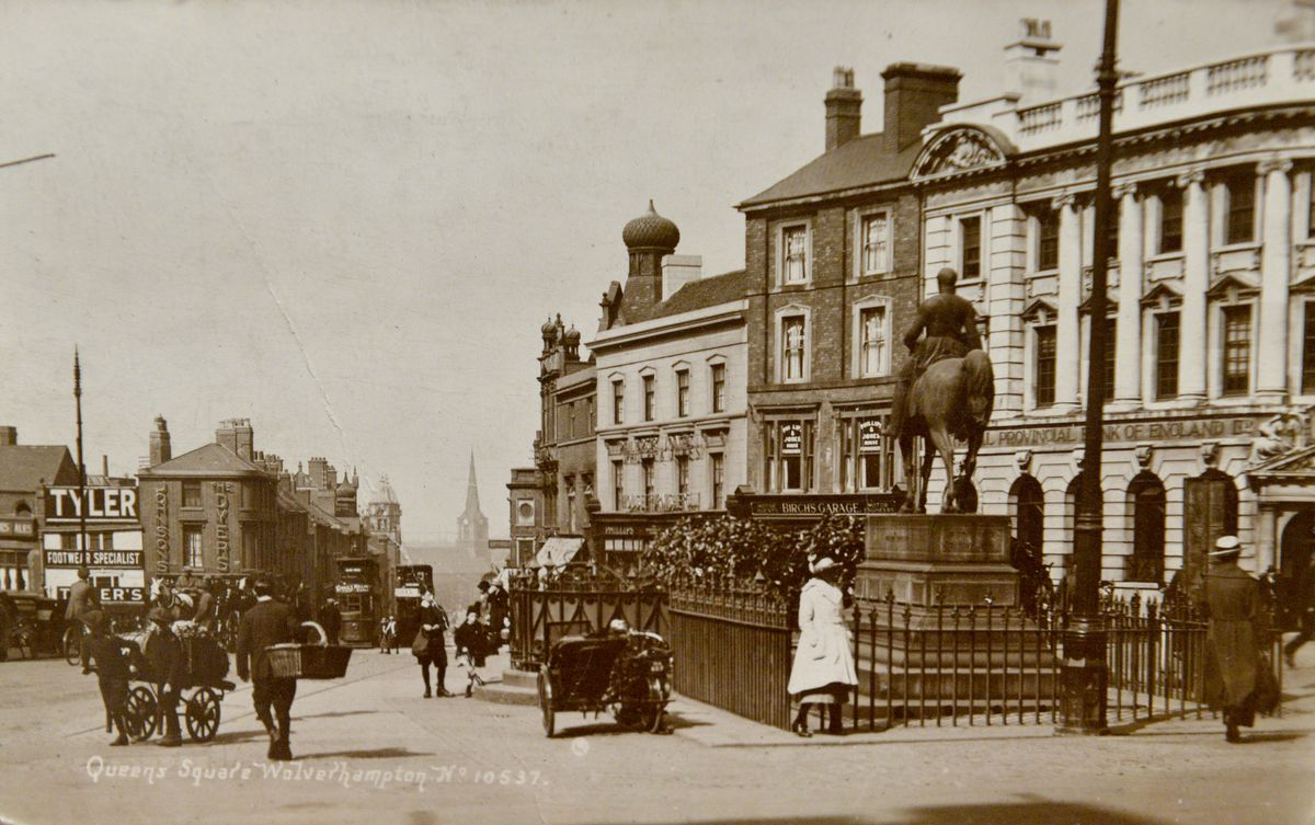 A postcard from the early 1900s of Queen's Square