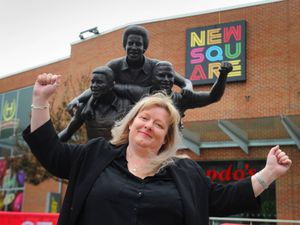 Manager Jackie Clay at New Square shopping centre in West Bromwich