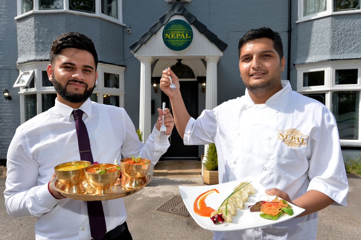 Sanjog Gaire has opened business doing traditional Nepalese food, the Darshan Nepal, Cannock. 07492 310650 Pictured, left,manager, Saurav Gotame and head chef Sanjog Gaire...
