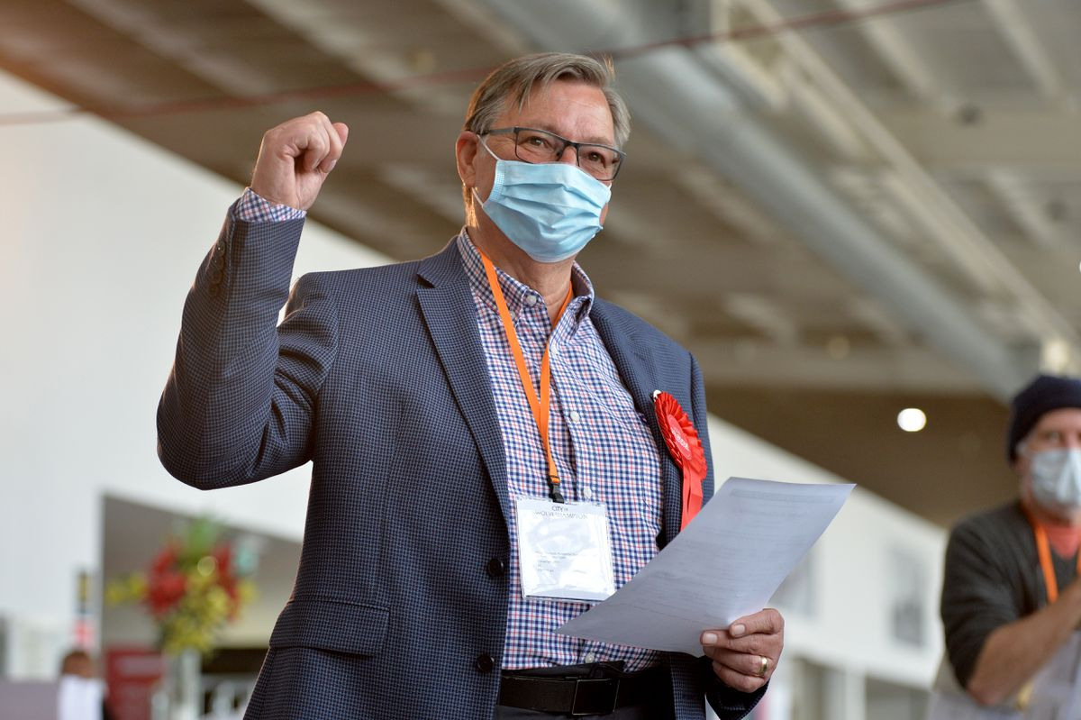 Phil Bateman who won his seat in Wednesfield North