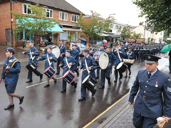Servicemen and women march through Albrighton to celebrate village's link with RAF Cosford