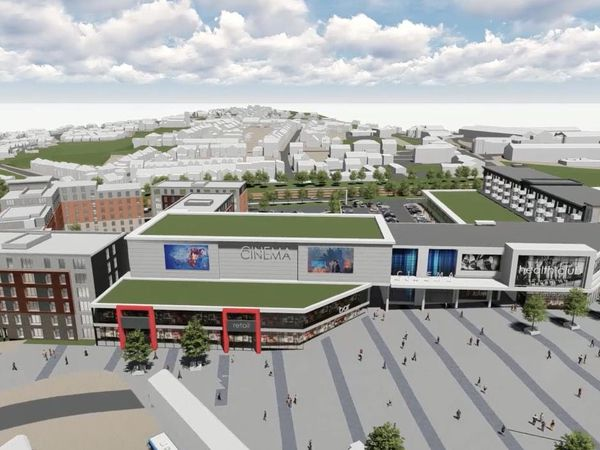 An artist's impression of the Portersfield development