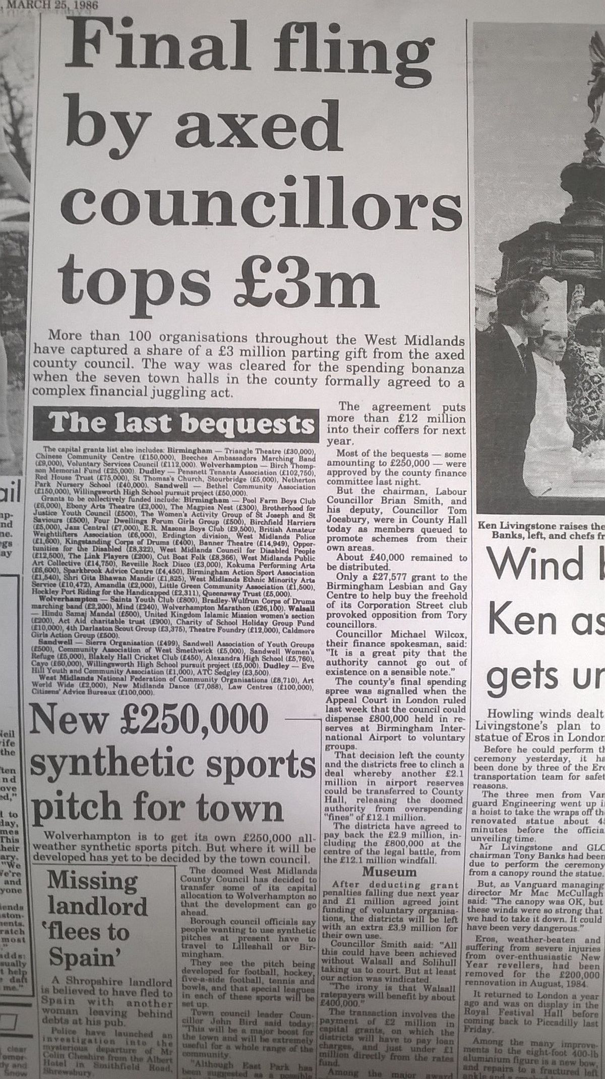 How the Express & Star reported the demise of the West Midlands County Council