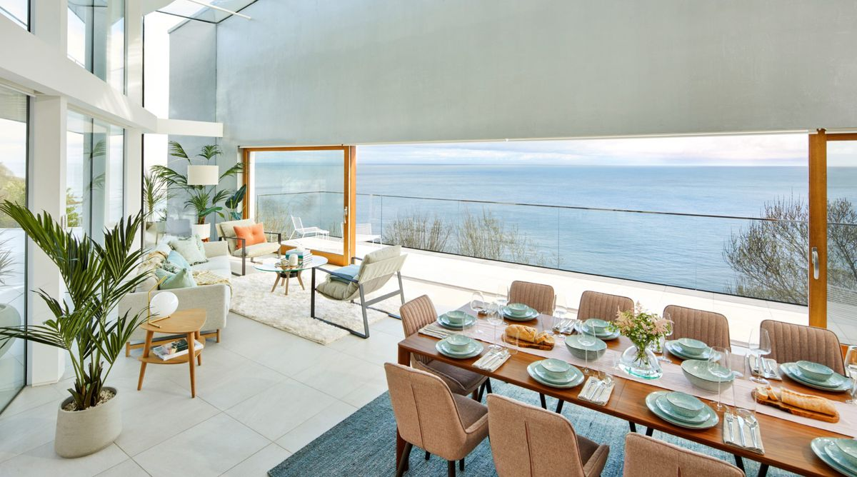 The dining room of the house in Devon. Photo: Omaze