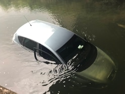 Stolen car found submerged in river by West Bromwich police