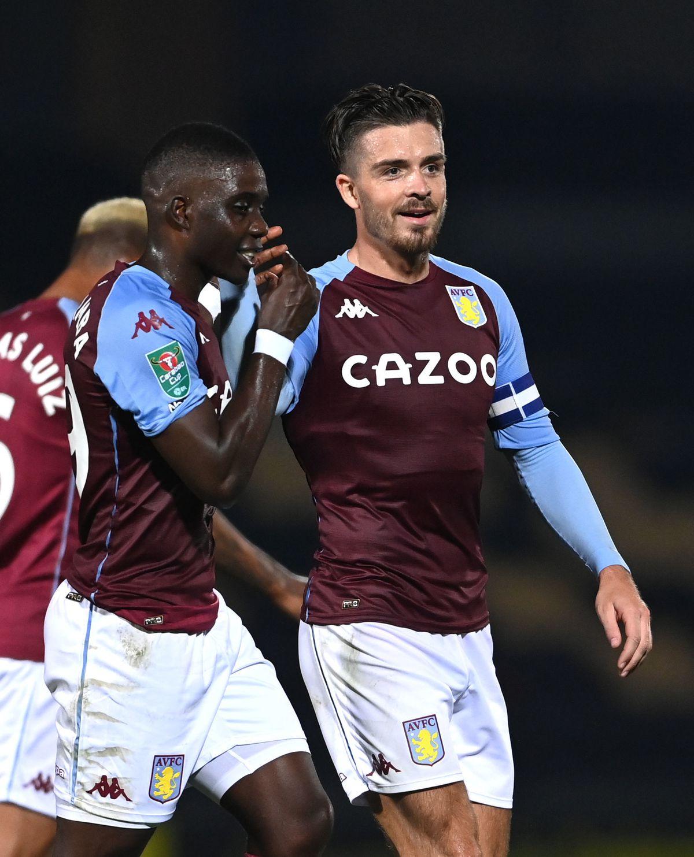 Aston Villa's Jack Grealish celebrates
