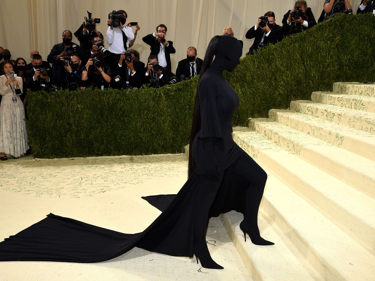 """Kim Kardashian attends The Metropolitan Museum of Art's Costume Institute benefit gala celebrating the opening of the """"In America: A Lexicon of Fashion"""" exhibition on Monday, Sept. 13, 2021, in New York"""