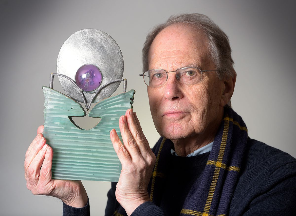 Glass artist Keith Cummings, who has some of his work on display in Simon Bruntnell's glass exhibition studio at the Stuarts Works, High Street in Wordsley