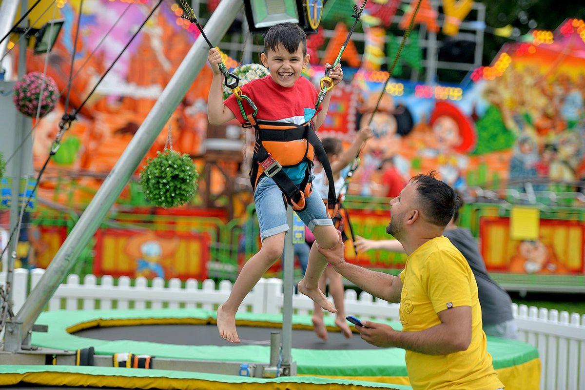 Nikolas, aged five, enjoys the fair