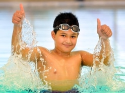 Schoolboy takes on swimming challenge