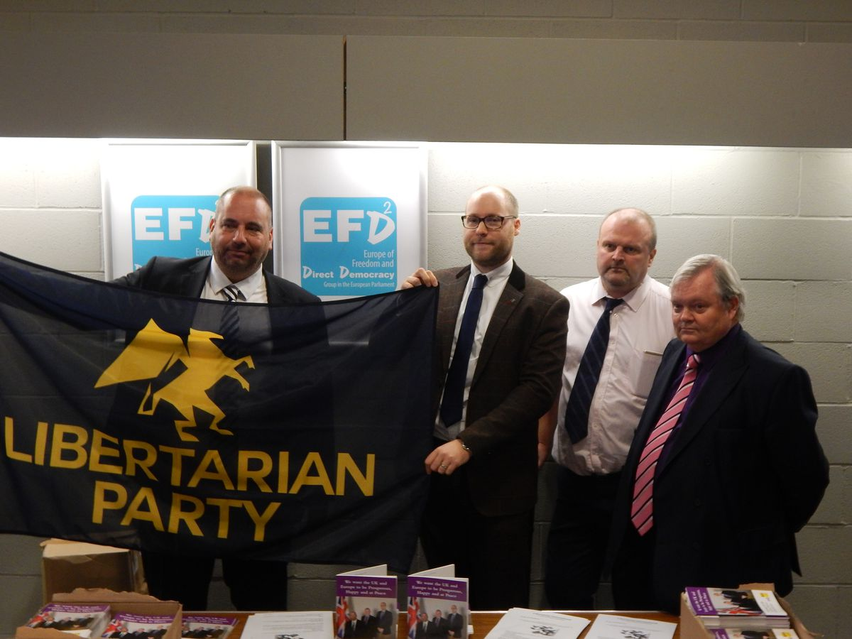 Bill Etheridge has joined the Libertarian Party as deputy chairman