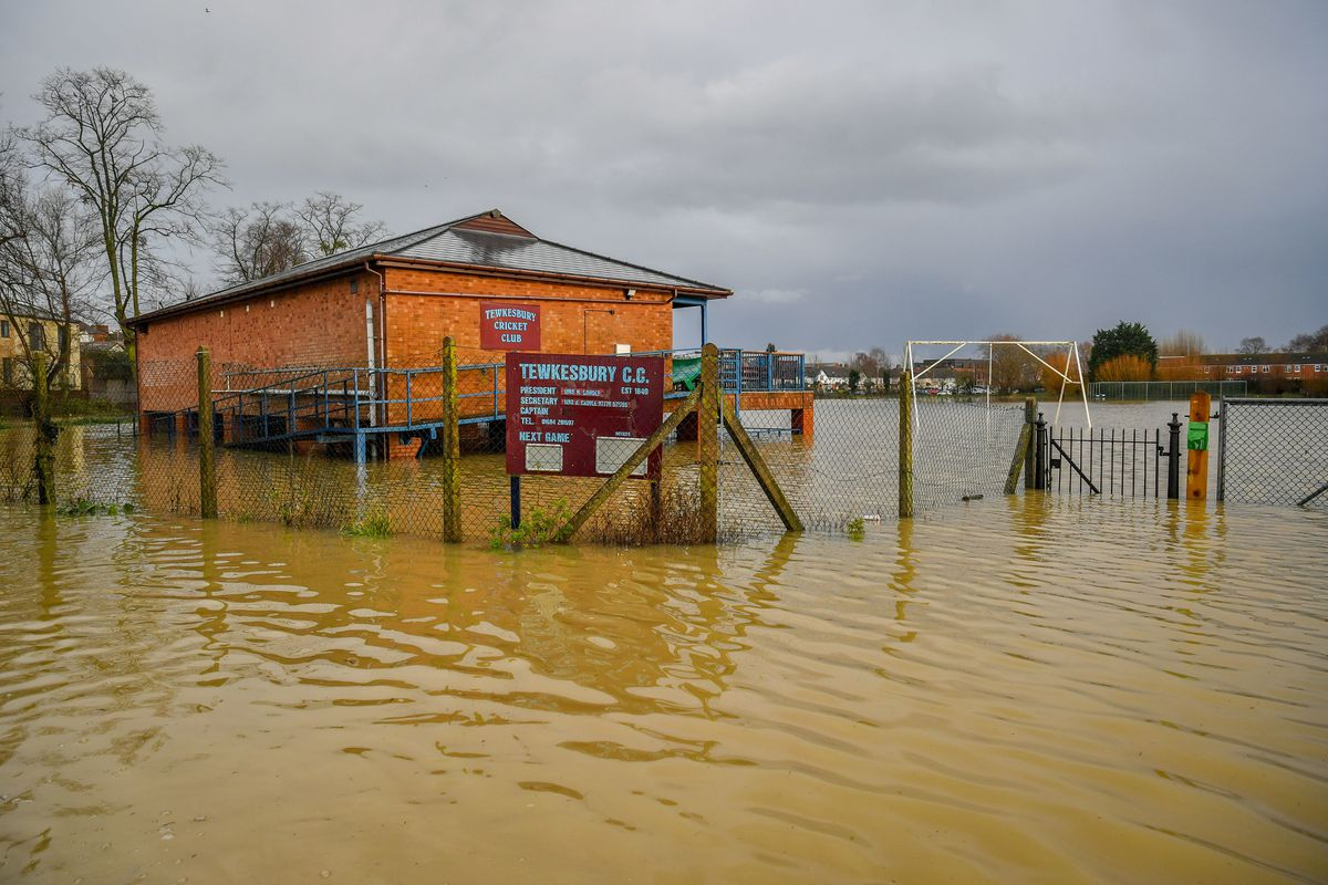 Tewkesbury Cricket Club was also flooded