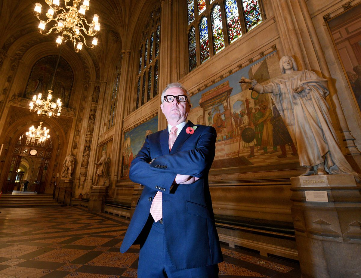 Mr Austin pictured this week in the Houses of Parliament, where he was first elected to in 2005