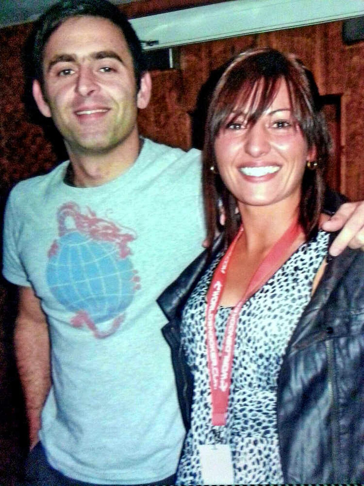 Family ties – cousins Ronnie O'Sullivan and Maria Catalano.