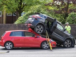 PICTURES: Cars end piggy backing after Hagley Road crash