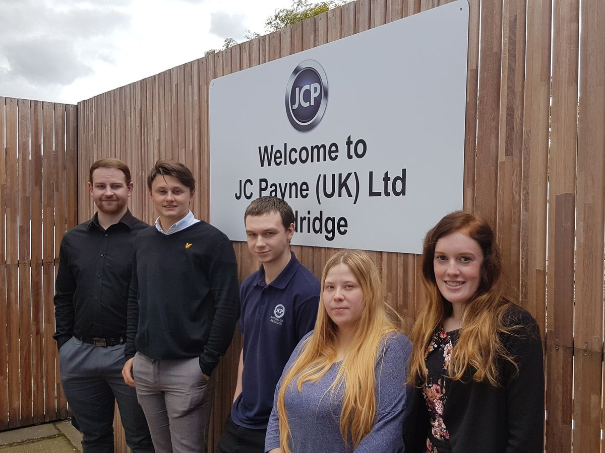 Five trainees have secured full time jobs after completing their apprenticeships with Aldridge commercial vehicle bodybuilding firm JC Payne
