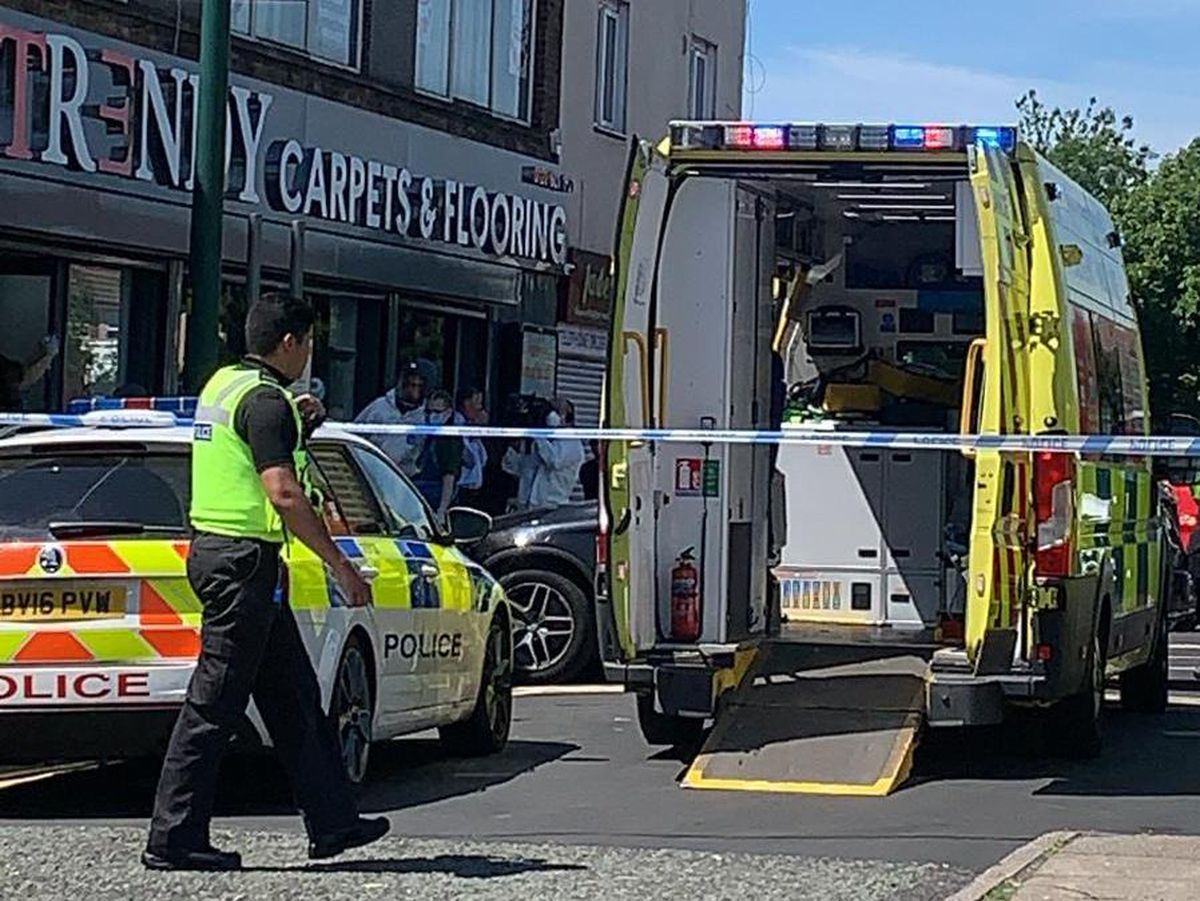 Emergency services at Upper High Street, Wednesbury. Photo: Emily Collins