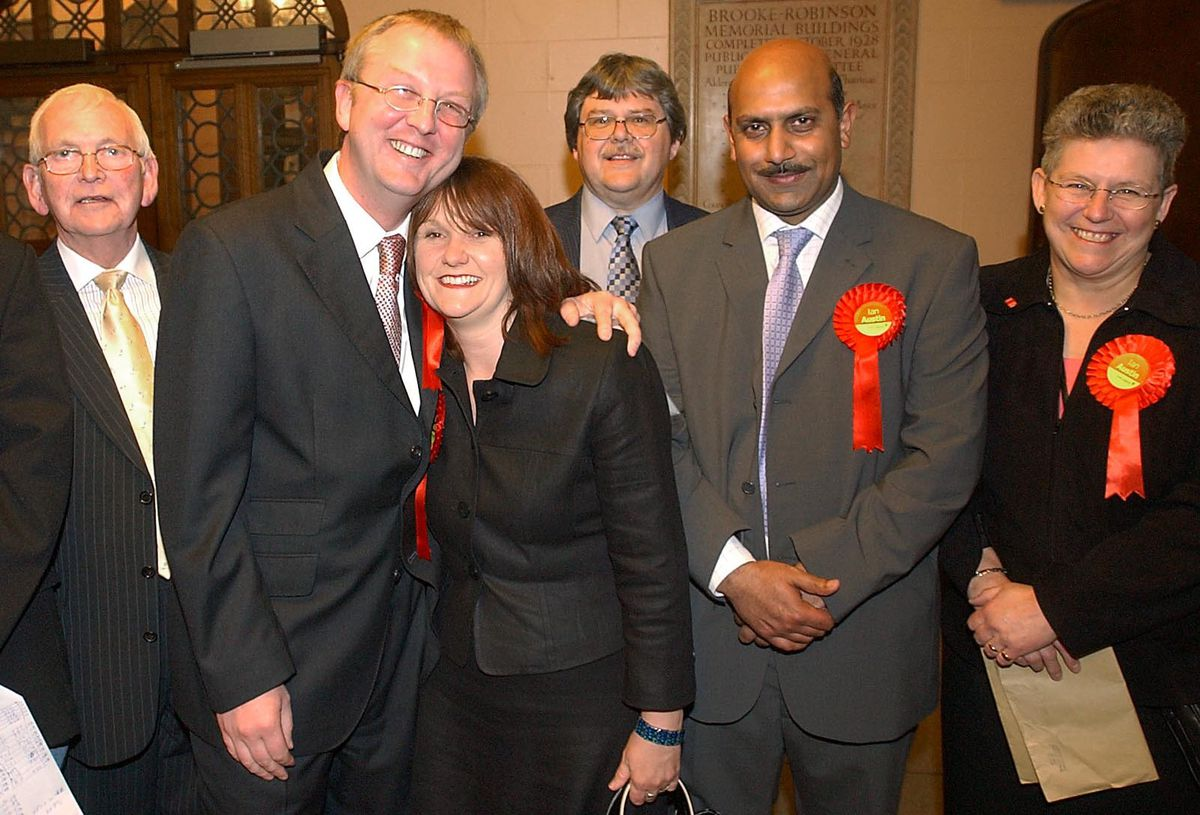 Celebrating holding Dudley North for Labour in 2005