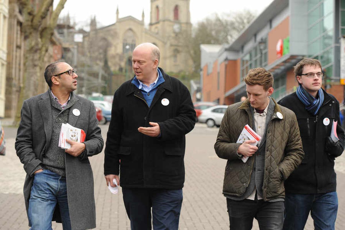 Chris Grayling in Walsall earlier this year