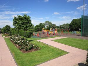 The play area at Priory Park, which is reopening on Saturday
