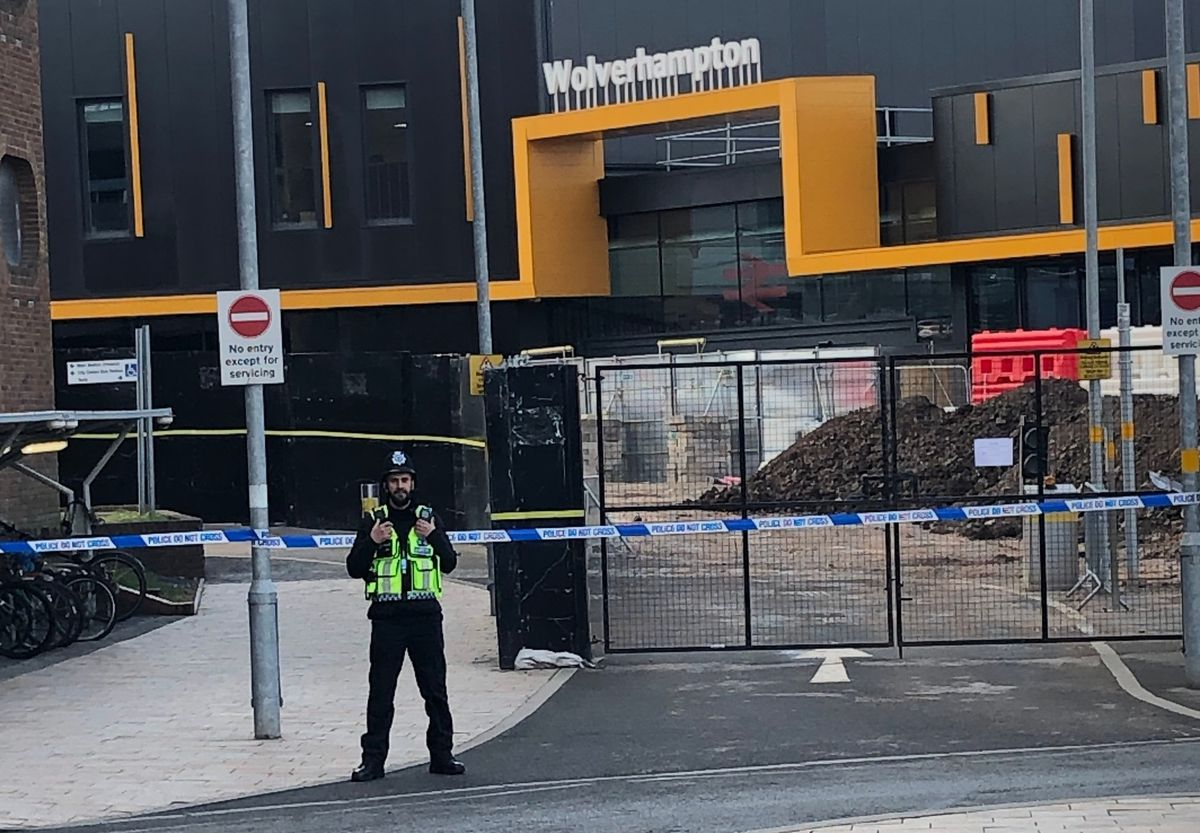 Police have placed a cordon around the area. Photo: Still Works Studios.