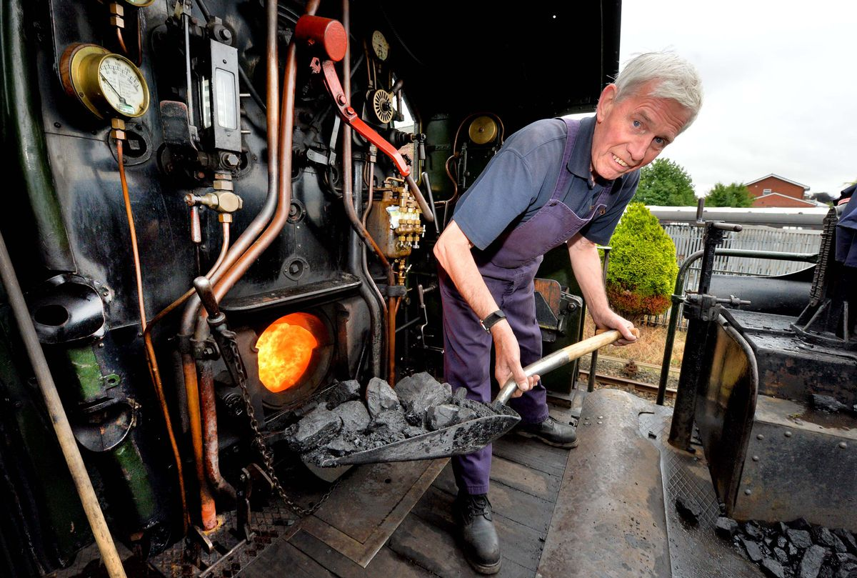 Severn Valley Railway gets ready to re-open to the public this weekend. Driver: Gary Townley