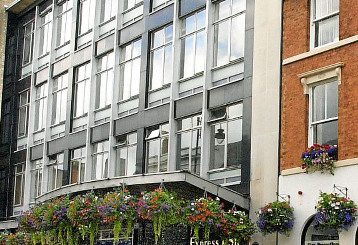 The frontage of the Express & Star Head offices, Reception area and Star Readers offices in Queen Street Wolverhampton