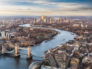 Birds-eye view of London