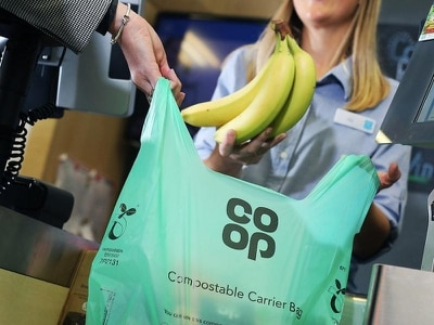 Co-op unwraps compostable carriers under moves to end single-use plastic