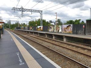 Impression of how some of the murals will look when installed at Cannock rail station.