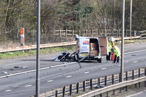 Woman killed as lorry and van collide on M5 | Express & Star