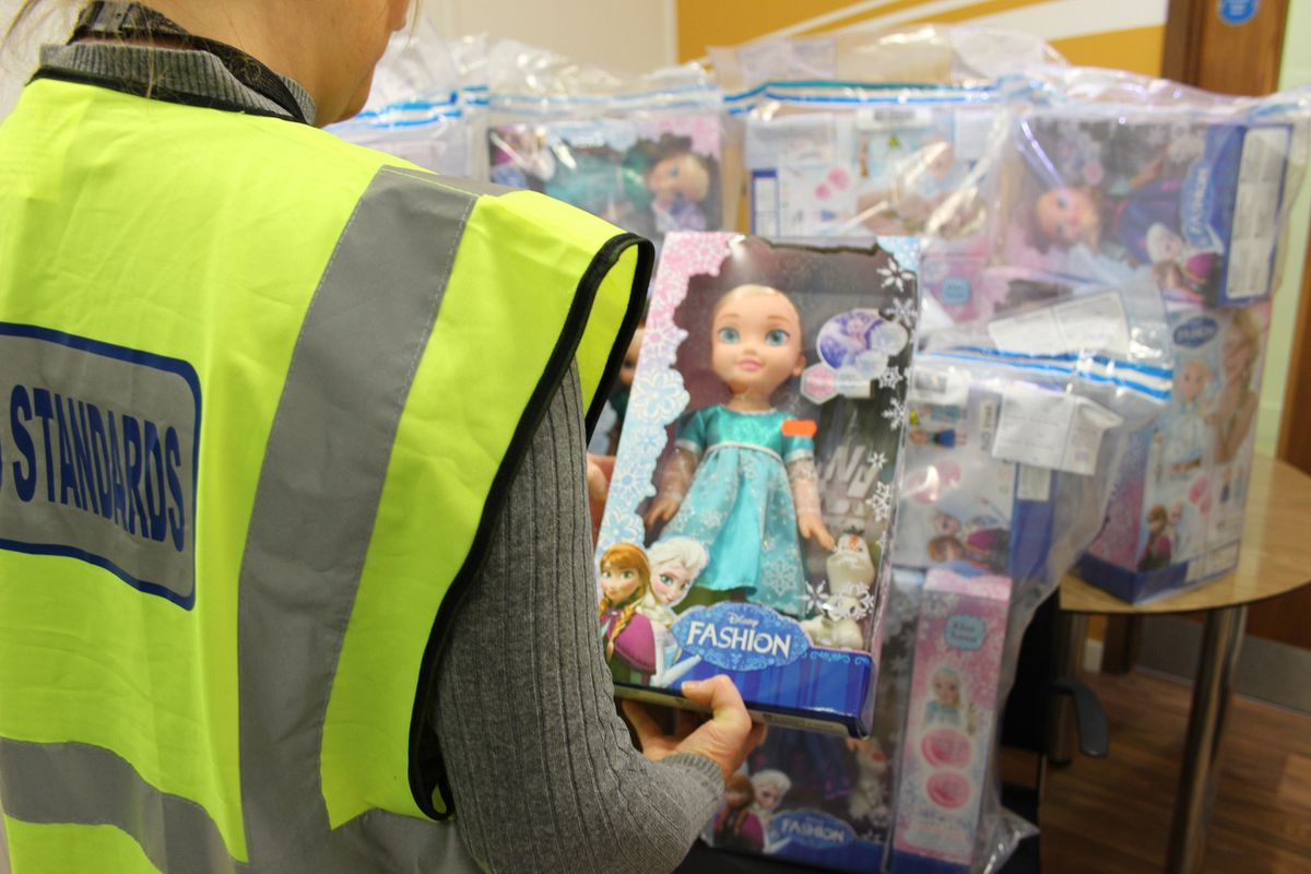 A range of fake Frozen toys were seized